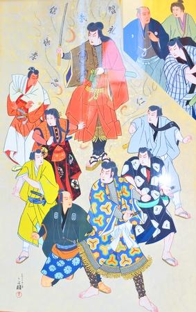 Tokyo, Japan - 02 January, 2012: Traditional Japanese painting in Asakusa district, Tokyo  Stock Photo - 13162094