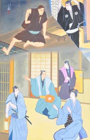 Tokyo, Japan - 02 January, 2012: Traditional Japanese painting in Asakusa district, Tokyo  Stock Photo - 13162089