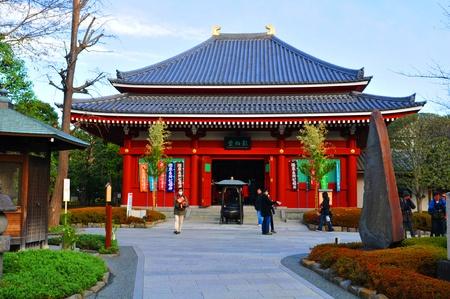 Tokyo, Japan - 31 December, 2011: People praying at Buddhist temple at New Year Stock Photo - 13072916