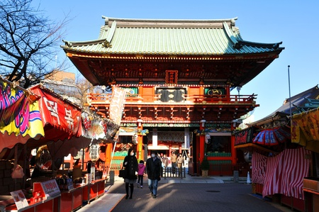 Tokyo, Japan - 1 January, 2012: People making their traditional trip to a temple in the first day of the New Year (Hatsumode) Stock Photo - 13062310