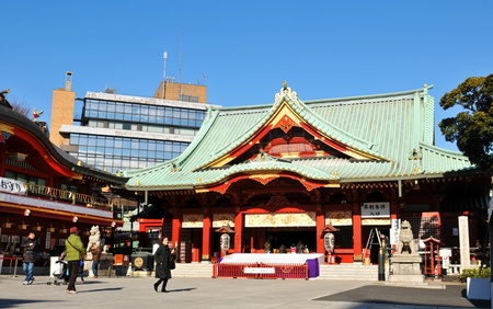Tokyo, Japan - 31 December, 2011: People visiting Sensoji temple in Asakusa during the last day of the year (Omisoka)