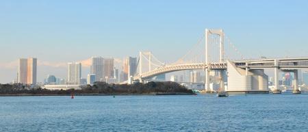 rainbow bridge: Tokyo panorama  Stock Photo