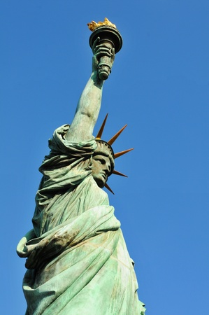 Side view of the Statue of Liberty  photo
