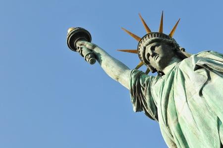 dama justicia: El emblema de la serie - Estatua de la Libertad en Nueva York, EE.UU.