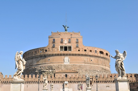 angelo: Sant Angelo Castle in Rome, Italy  Editorial