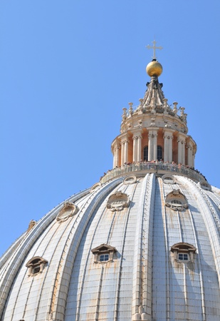 Rome, Italy - 28 March, 2012: Architectural detail of San Pietro basilica