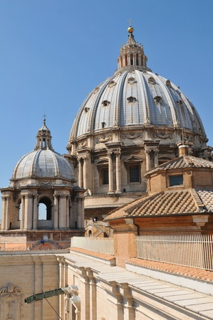 pietro: Rome, Italy - 28 March, 2012: Architectural detail of San Pietro basilica
