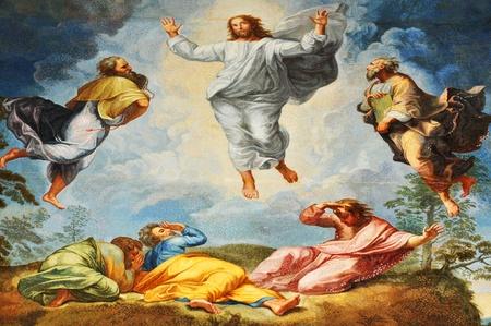 Rzym, WÅ'ochy - 28 marca 2012: Fragment mozaiki renesansowym przedstawiajÄ…cy biblijnÄ… scenÄ™ Zmartwychwstania wewnÄ…trz San Pietro (Saint Peter) Bazylika w Watykanie, Rzym
