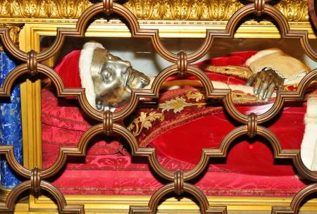 Vatican City, Vatican - 28 March, 2012: Detail of papal grave inside San Pietro (Saint Peter) basilica in Vatican, Rome Stock Photo - 13266237