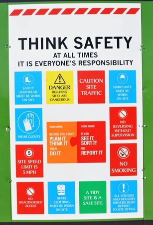 safety symbols: Think safety  Stock Photo