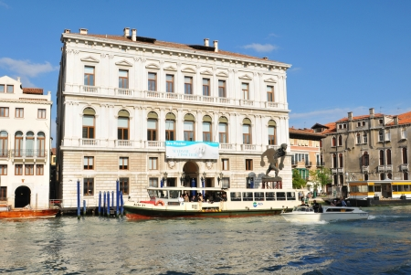 Venice, Italy - 6 May, 2012: Venetian palace (palazzo) overlooking the Grand Canal in central Venice Stock Photo - 14145438