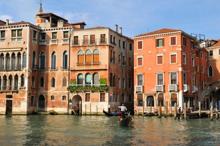 Venice, Italy - 6 May, 2012  Venetian palace  palazzo  overlooking the Grand Canal in central Venice Stock Photo - 14145400