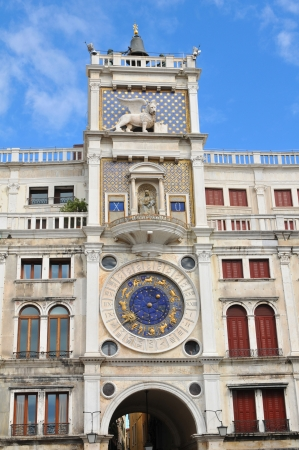 torre: Clock Tower in San Marco - Venice, Italy Stock Photo