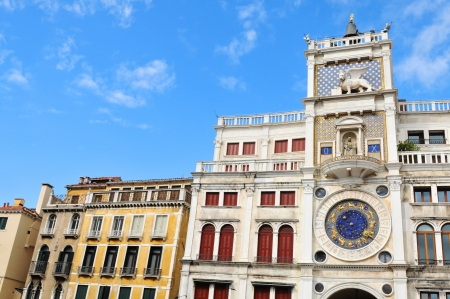 Clock Tower in Venice, Italy photo