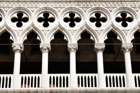 gothic window: Doge s Palace, Venice Editorial