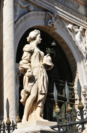 arsenal: Statue at Arsenal, Venice  Italy