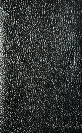 Black leather cover photo