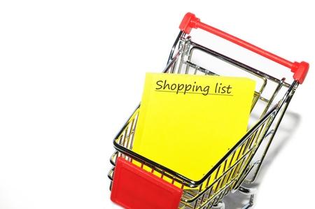 elenchi: Lista della spesa Archivio Fotografico