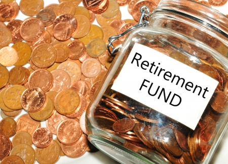 pensions: Retirement fund  Stock Photo