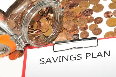 taxes budgeting: Savings plan  Stock Photo