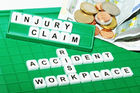 work injury: Injury claim Stock Photo
