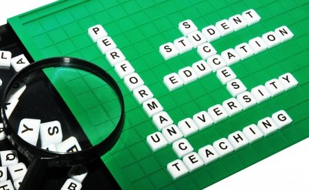 pedagogical: University keywords  Stock Photo
