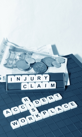 solicitors: Injury claim Stock Photo