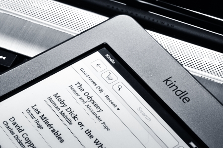 London, UK - 27 March 2012: Amazon has announced the launching of the Amazon Kindle Touch and Kindle Touch 3G in the UK
