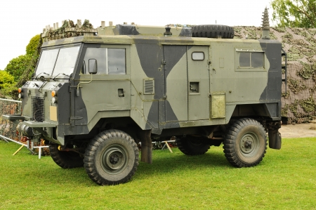 Nottingham, UK - 22 August, 2011: Military truck on displayed during Nottingham days