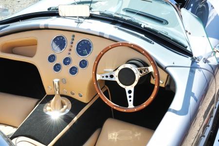 vehicle interior: Nottingham, UK - 29 April, 2011: Detail of a luxury car interior