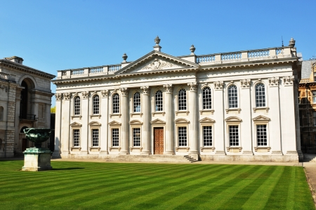 Cambridge, UK - August, 2011: Architectural panorama of beautiful mansion in Cambridge, UK