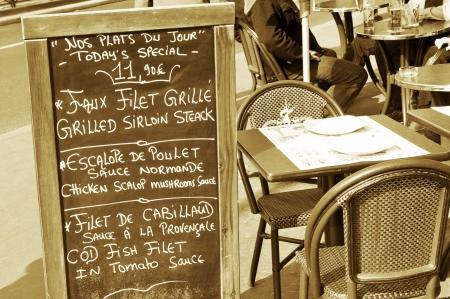Paris, France - 30 March, 2011: Detail of restaurant table in Paris, France  Stock Photo - 15741210