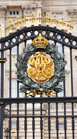 buckingham palace: London, UK - September, 2011: Royal emblem at the Buckingham Palace in London