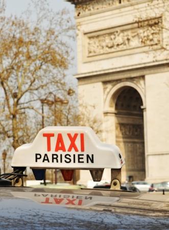 parisian: Paris, France - 30 March, 2011: Detail of taxi sign in Paris