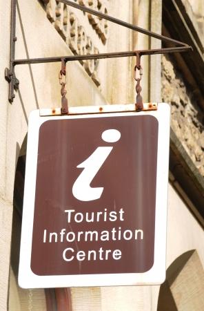 informing: Settle, UK - April, 2010: Detail of vintage tourist information centre sign