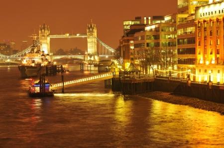 sunsets: London, UK - September, 2011: Night view of Tower Bridge in London, UK