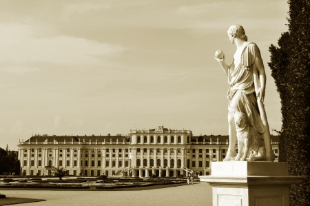Vienna, Austria - June, 2011: Architecture of the famous Schonbrunn Palace in Vienna, Austria