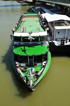 Vienna, Austria - June, 2011: Cruise ship on Danube in Vienna, Austria  Stock Photo - 15741140