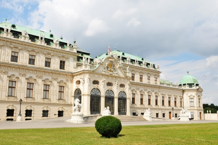 Vienna, Austria - June, 2011: Panorama of Belvedere palace in Vienna, Austria