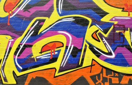 London, UK - September, 2011: Abstract colorful urban graffiti in London suburbs  Stock Photo - 15741208