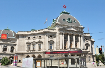 Vienna, Austria - July 10, 2011: Volkstheater in one of the most important cultural landmarks in Vienna, Austria