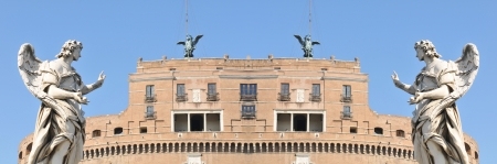 Rome, Italy - May, 2012: Architectural detail of Sant Angelo castle in Rome, Italy  Stock Photo - 17118858
