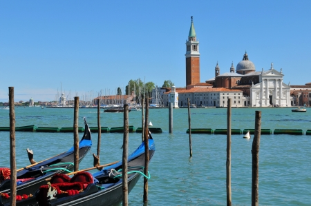 Venice, Italy - 06 May, 2012  Panorama of San Giorgio Maggiore basilica in Venice Stock Photo - 17118789