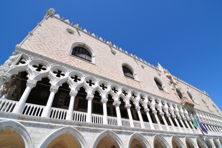 Venice, Italy - 06 May, 2012: Architectural detail of Doges Palace in Venice, Italy