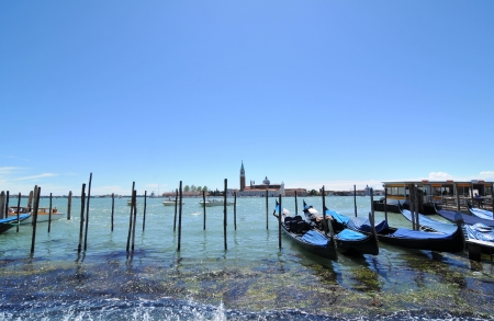 Venice, Italy - 06 May, 2012:  Gondolas in Venice, Italy  Stock Photo - 17118791