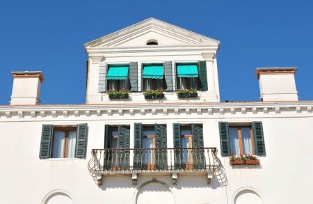 Venice, Italy - 06 May, 2012: Old style Italian house in Venice, Italy