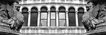 Venice, Italy - 06 May, 2012:  Architectural detail in San Marco square in Venice, Italy
