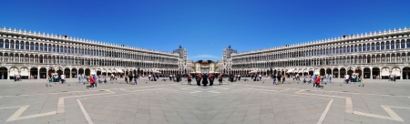 sestiere: Venice, Italy - 06 May, 2012:  Architectural panorama of San Marco square in Venice, Italy