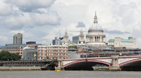 London, UK - August 05, 2012: Saint Paul cathedral dominating the London skyline Stock Photo - 17136673