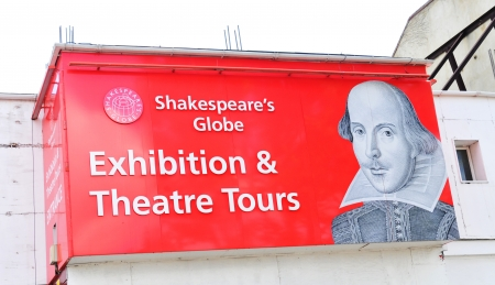 London, UK - August 05, 2012: Entrance to the Shakespeares Globe theatre, major cultural landmark in London